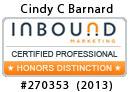 Inbound Marketing certification No. 270353